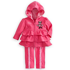 Minnie Mouse Hoodie and Pants Set for Baby - Personalizable