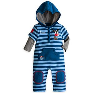 Mickey Mouse Hoodie Coverall for Baby - Personalizable