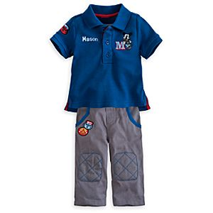 Mickey Mouse Polo Shirt and Pants Set for Baby - Personalizable