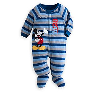 Mickey Mouse Blanket Sleeper for Baby - Personalizable
