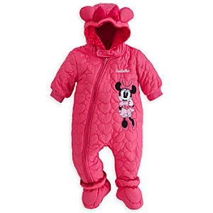 Minnie Mouse Hooded Snowsuit for Baby - Personalizable