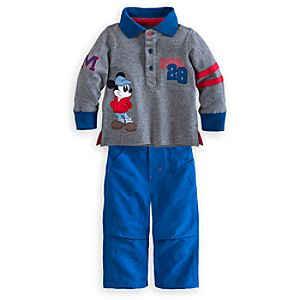 Mickey Mouse Polo Shirt and Pants Set