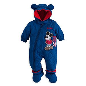 Mickey Mouse Hooded Snowsuit for Baby - Personalizable