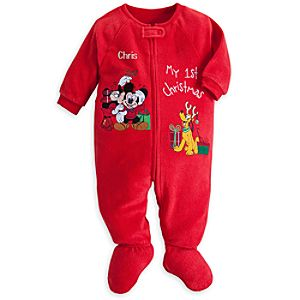 Mickey Mouse & Friends My 1st Christmas Blanket Sleeper for Baby - Personalizable