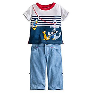 Mickey Mouse and Friends Tee and Pants Set for Baby