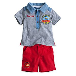 Donald Duck Polo and Short Set for Baby - Personalizable