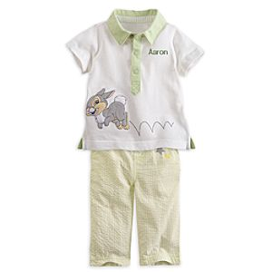 Thumper Polo Shirt and Pants Set for Baby - Personalizable