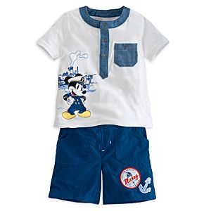 Mickey Mouse Knit Tee and Shorts Set for Baby