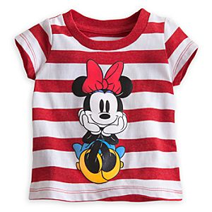 Minnie Mouse Striped Tee for Baby