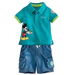 Mickey Mouse Polo and Shorts Set for Baby - Personalizable