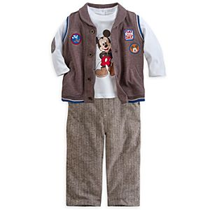 Mickey Mouse Woven Pants Set for Baby