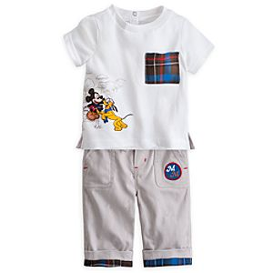 Mickey Mouse and Pluto Pants and Tee Set for Baby
