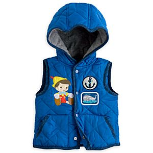 Pinocchio Hooded Vest for Baby