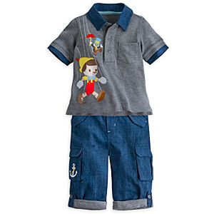 Pinocchio Polo and Pants Set for Baby