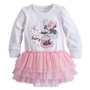 Minnie Mouse Disney Cuddly Bodysuit with Tutu for Baby
