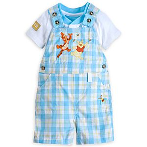 Winnie the Pooh and Tigger Dungaree Set for Baby
