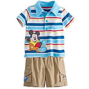Mickey Mouse Polo Shirt and Shorts Set for Baby
