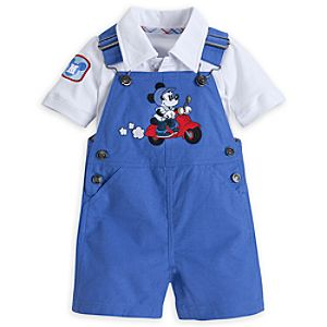 Mickey Mouse City Dungaree Set for Baby