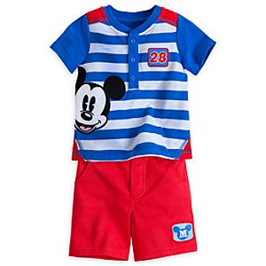Mickey Mouse City Tee and Short Set for Baby