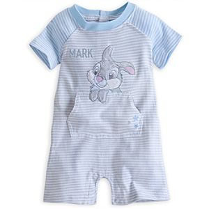 Thumper Knit Romper for Baby - Personalization