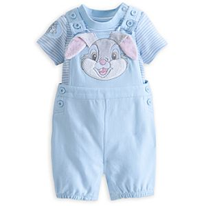 Thumper Knit Dungaree Set for Baby