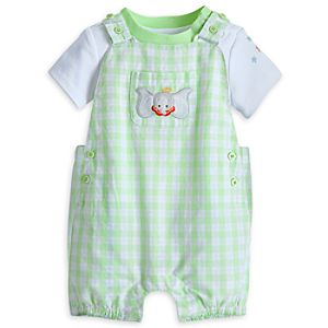 Dumbo Knit Dungaree Set for Baby