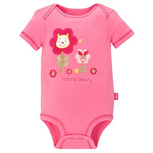 Disney Cuddly Bodysuit for Baby Girls -- Winnie the Pooh Natural Beauty
