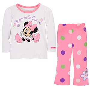 Born to be Cute Minnie Mouse Clothing Set for Baby Girls -- 2-Pc.