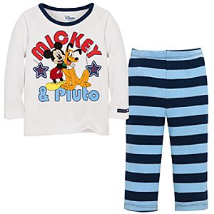 Mickey and Pluto Mickey Mouse Clothing Set for Infants