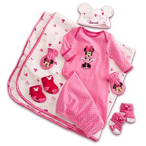 Minnie Mouse Welcome Home Set for Baby - Personalizable