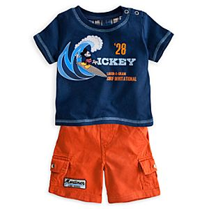 Mickey Mouse Tee and Shorts Surf Set for Baby