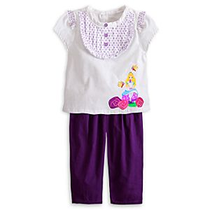 Alice in Wonderland Woven Top and Pants Set for Baby