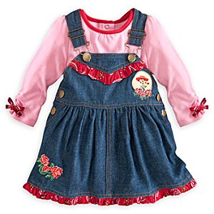 Jessie Overall Dress Set with Tee for Baby