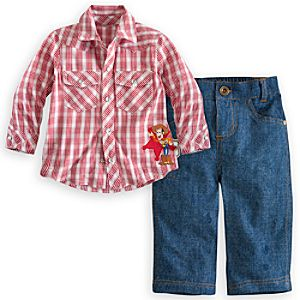 Woody Woven Shirt and Pants Set for Baby