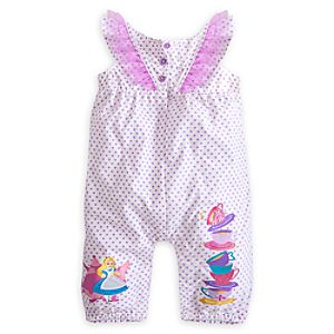 Alice in Wonderland Woven Romper for Baby