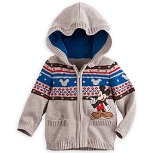 Mickey Mouse Hooded Knit Sweater for Baby