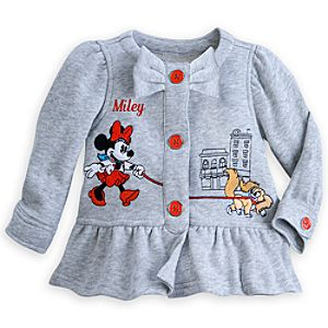 Minnie Mouse Woven Jacket for Baby - Personalizable