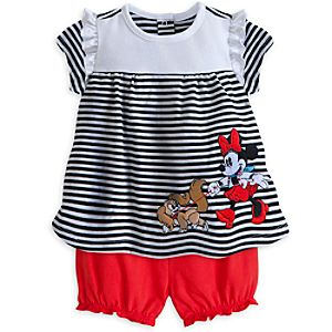 Minnie Mouse City Top and Bloomer Set for Baby