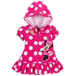 Personalizable Minnie Mouse Cover Up for Baby Girls