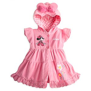 Minnie Mouse Pink Swim Coverup for Baby - Personalizable