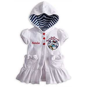 Minnie Mouse Swim Coverup for Baby - Personalizable