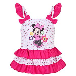 Polka-Dotted Minnie Mouse Swimsuit for Baby Girls