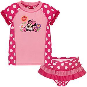 Minnie Mouse Rashguard Swimsuit for Baby Girls