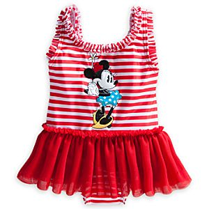 Minnie Mouse Deluxe Tutu Swimsuit for Baby