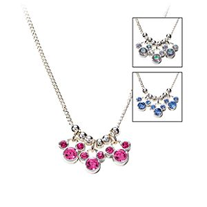 Triple Crystal Icon Mickey Mouse Necklace