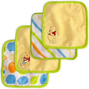 Winnie the Pooh Washcloth Set for Baby