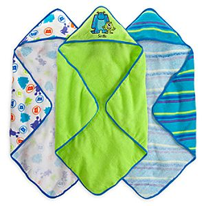 Monsters, Inc. Hooded Towel Set for Baby - Personalizable