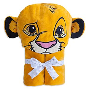 Simba Hooded Towel for Baby - Personalizable