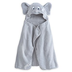 Dumbo Hooded Towel for Baby - Personalizable