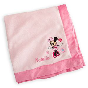Minnie Mouse Plush Blanket for Baby - Personalizable